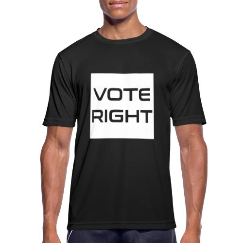 vote right - Männer T-Shirt atmungsaktiv