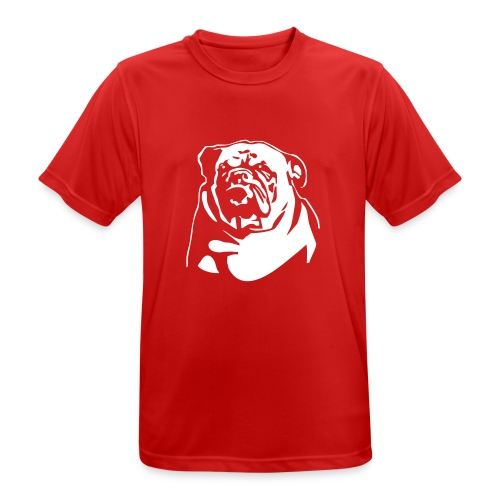English Bulldog - negative - miesten tekninen t-paita