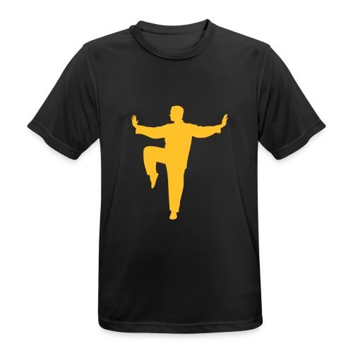 Taichi kick - Männer T-Shirt atmungsaktiv