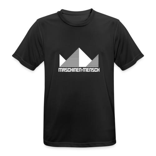Maschinen-Mensch Logo black - Männer T-Shirt atmungsaktiv