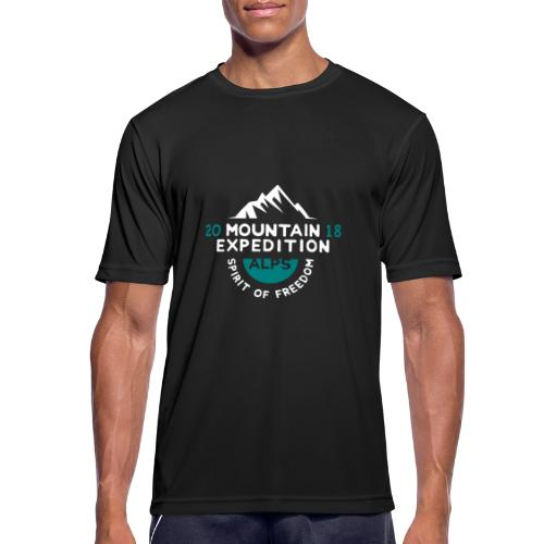 MOUNTAIN EXPECTION - ALPS - Maglietta da uomo traspirante
