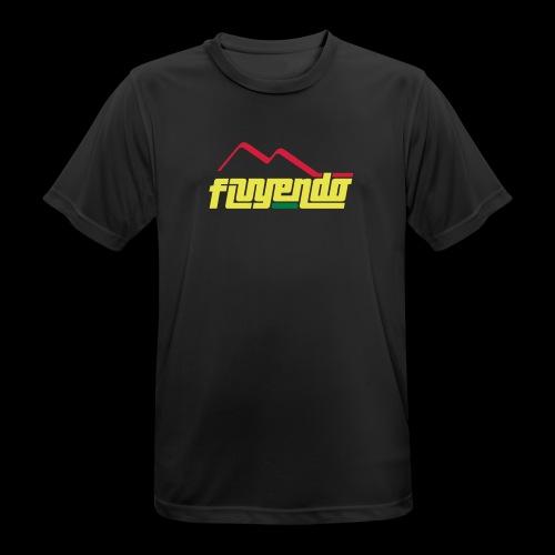fluyendo logo rasta - Men's Breathable T-Shirt