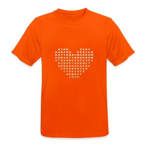 Copenhagen Heart - Herre T-shirt svedtransporterende