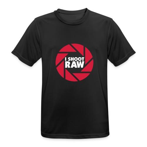 I shoot RAW - weiß - Männer T-Shirt atmungsaktiv