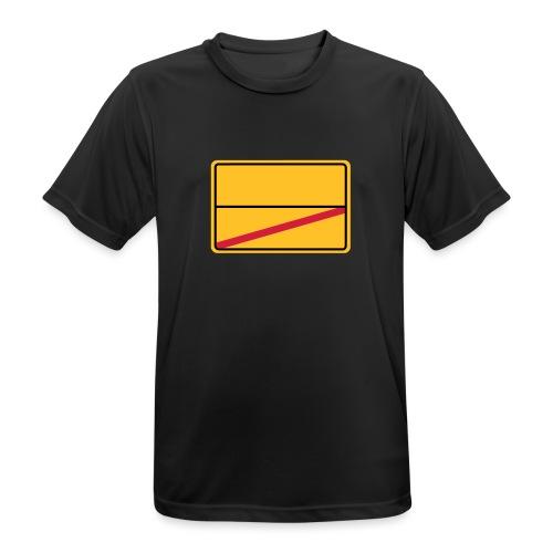 Ortsschild Ende - blanko - Männer T-Shirt atmungsaktiv