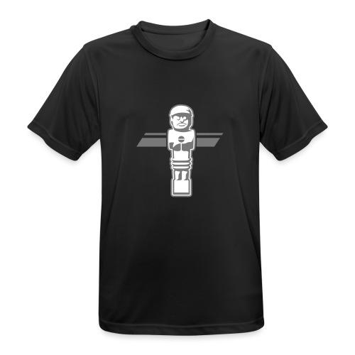 Soccerfigur 2-farbig - Kickershirt - Männer T-Shirt atmungsaktiv