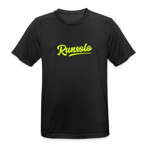 runsolo nur Schrift - Männer T-Shirt atmungsaktiv