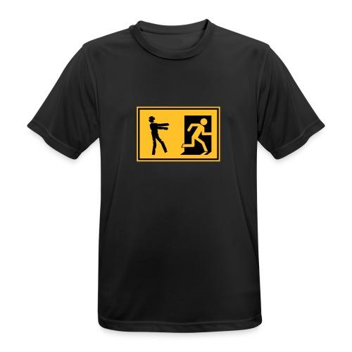 Zombie Invasion Notausgang - Männer T-Shirt atmungsaktiv
