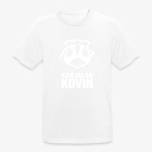 karjalan kovin pysty - miesten tekninen t-paita