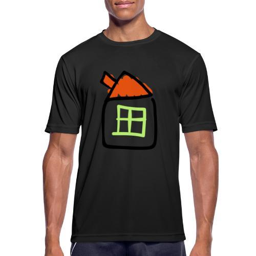 House Line Drawing Pixellamb - Männer T-Shirt atmungsaktiv