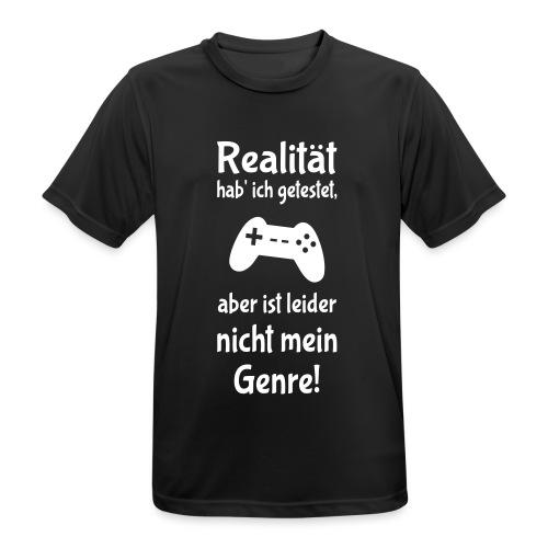 Coole Gamer Nerd Sprüche Zocken Realität - Männer T-Shirt atmungsaktiv