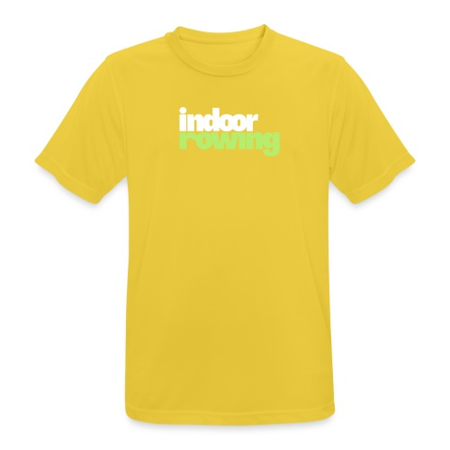 indoor rowing logo 2c - Men's Breathable T-Shirt
