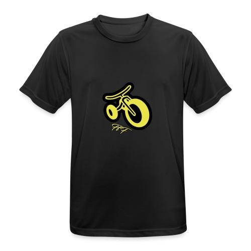 3CYCLE yellow - Maglietta da uomo traspirante