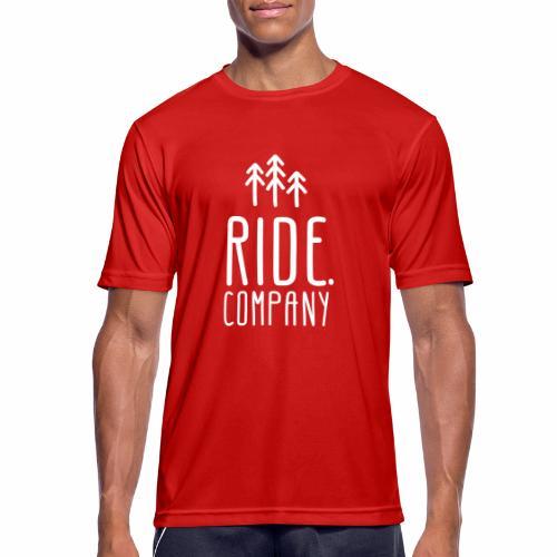 RIDE.company Logo - Männer T-Shirt atmungsaktiv