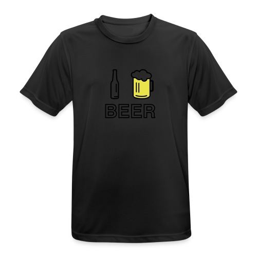 I Love Beer (2-farbig) - Männer T-Shirt atmungsaktiv