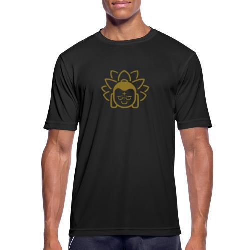 Boeddha hoofd blad - Mannen T-shirt ademend actief