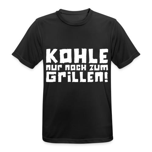 Kohle nur noch zum Grillen - Logo - Männer T-Shirt atmungsaktiv