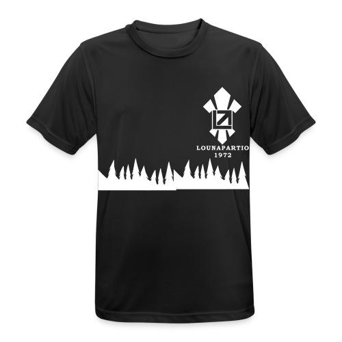 louvaatelogo - miesten tekninen t-paita