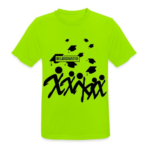 BEGRADUATED - Mannen T-shirt ademend actief