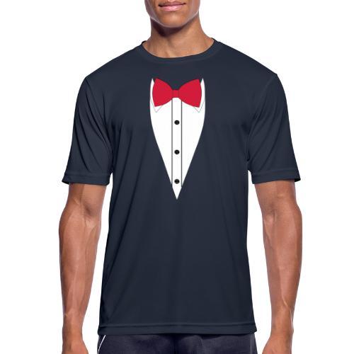 Anzug mit Fliege - Männer T-Shirt atmungsaktiv