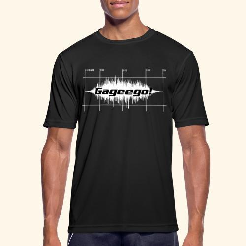 Gageego-logga mörk text - Andningsaktiv T-shirt herr