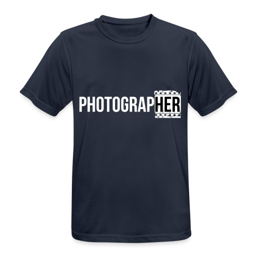Photographing-her - Men's Breathable T-Shirt