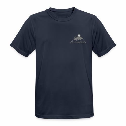 Lonemountaineer logo wht - Men's Breathable T-Shirt