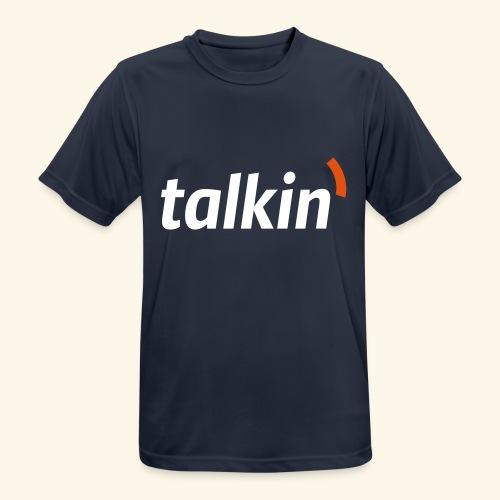 talkin' white on gray - Männer T-Shirt atmungsaktiv