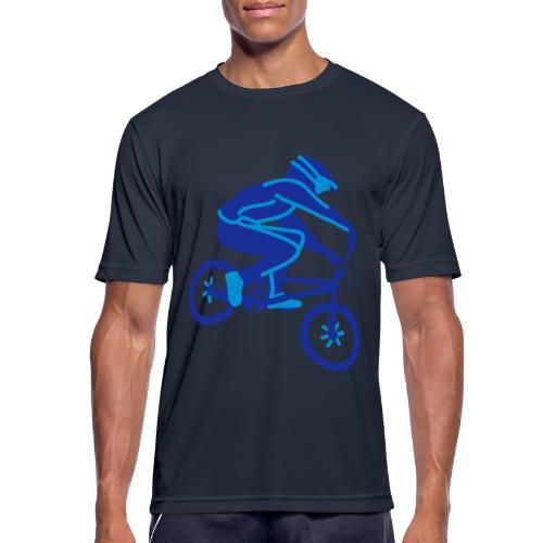 BMX Rider Dark - mannen T-shirt ademend