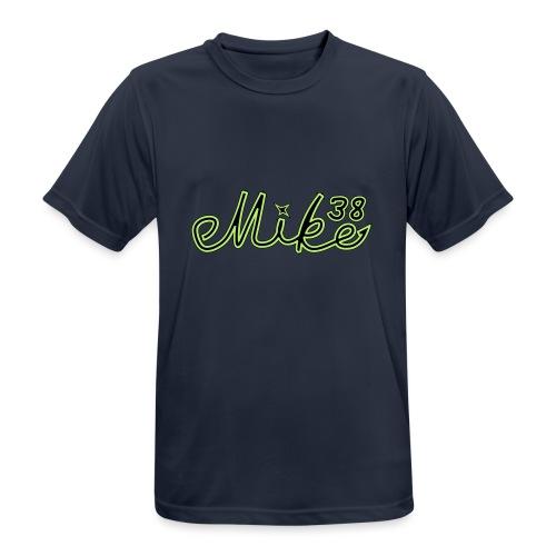 mike38teksti - miesten tekninen t-paita