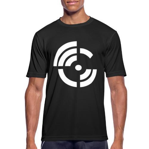 electroradio.fm logo - Men's Breathable T-Shirt