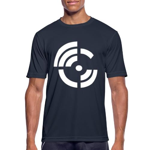 electroradio.fm logo - Men's Breathable T-Shirt