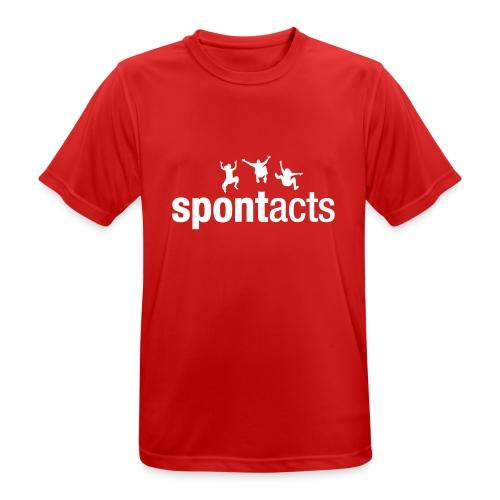 spontacts_Logo_weiss - Männer T-Shirt atmungsaktiv