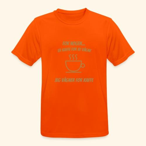 Jeg vågner for kaffe - Herre T-shirt svedtransporterende