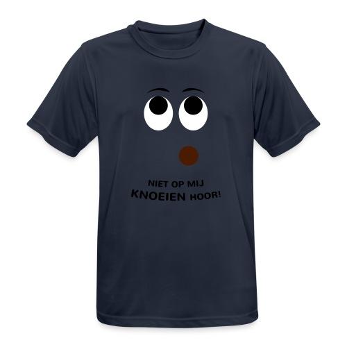 Grappige Rompertjes: Niet op mij knoeien hoor - Mannen T-shirt ademend actief