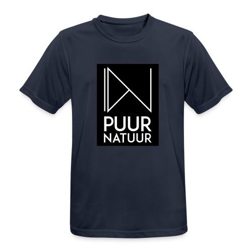 Logo puur natuur negatief - Mannen T-shirt ademend