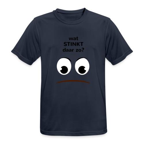 Grappige Rompertjes: Wat stinkt daar zo - Mannen T-shirt ademend actief