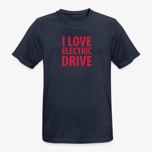Design3 I Love electric drive - Männer T-Shirt atmungsaktiv