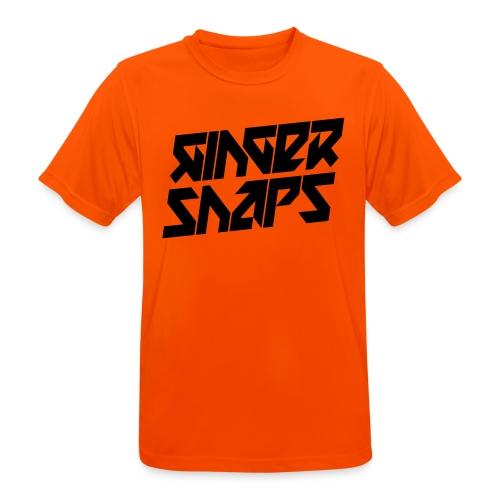 Ginger Snap5 logo (two lines black) - Men's Breathable T-Shirt