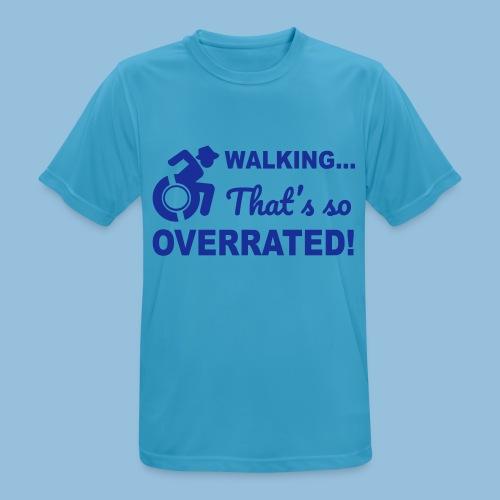 Walkingoverrated2 - Mannen T-shirt ademend