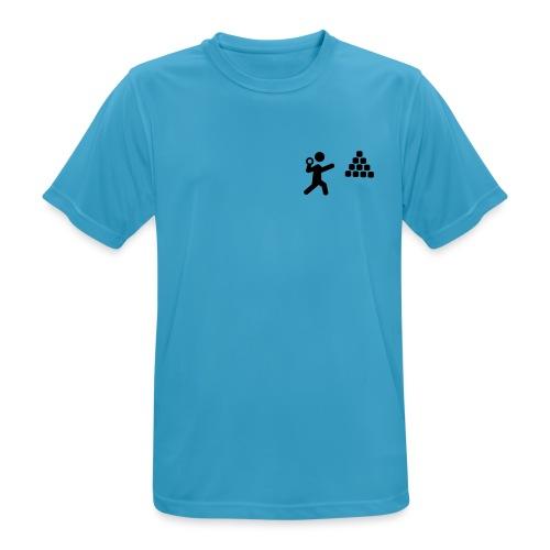 Joggskyt enkel logo - Pustende T-skjorte for menn