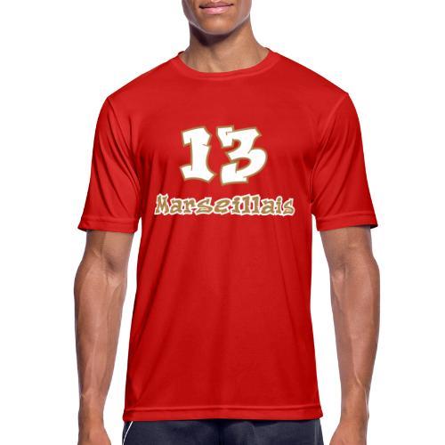 fier marseille blanc 03 - T-shirt respirant Homme