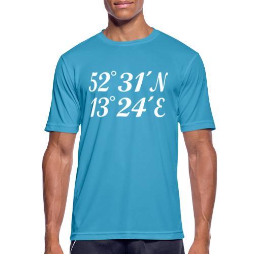 Berlin Koordinaten - Männer T-Shirt atmungsaktiv