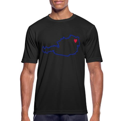 Ein Herz für Österreich - Männer T-Shirt atmungsaktiv