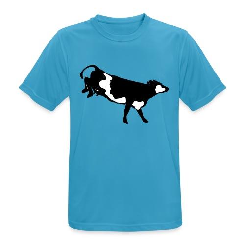 Landende koe vector - Mannen T-shirt ademend actief