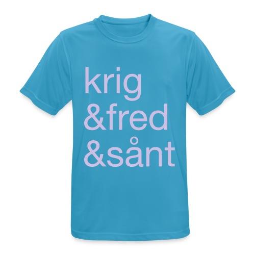 krig&fred&sånt - fra Det norske plagg - Pustende T-skjorte for menn