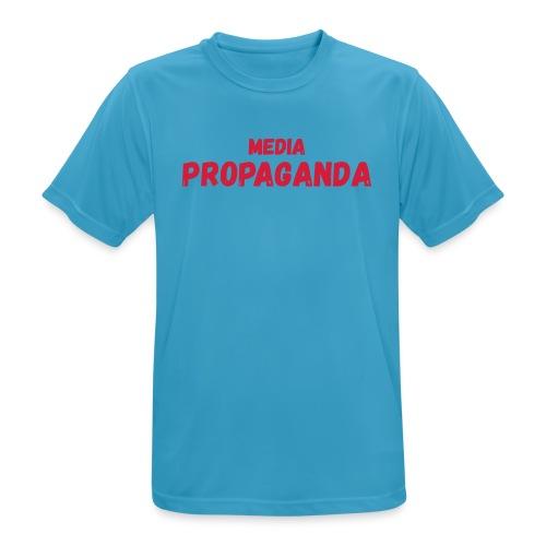 Media propaganda, propagande, fake news, mensonge - T-shirt respirant Homme