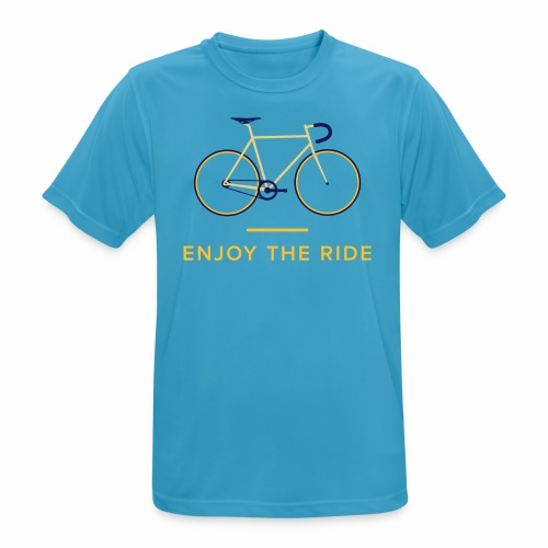Enjoy The Ride Retro Cycling T-Shirt - Men's Breathable T-Shirt