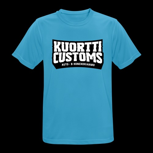 kuortti_customs_logo_main - miesten tekninen t-paita