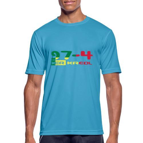 Design 974 ker kreol, rastafari - T-shirt respirant Homme